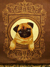 Cutie Pie PUG Dog Belgian Tapestry Pillow Cover