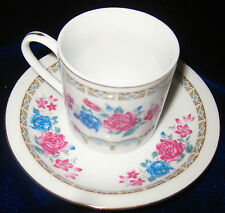 New Set of 24 Pcs. Tea-Coffee Cup & Saucer White Porcelain Made in China-LOT C12
