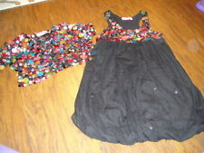 BOUTIQUE HAVEN GIRL 6 6X BLACK SEQUEN COLORFUL DRESS AND JACKET GORGEOUS