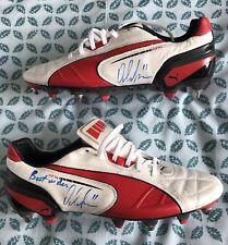 Player Issue firmato Boots PUMA King, Peter odemwingie Nigeria Stoke Montante Settimanale del beneficio England
