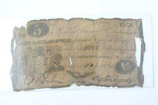 1821 State Bank of Newark NJ $5 Five Dollar Bill Bank Note ORIGINAL