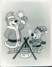 1982 Press Photo Yogi Bear Boo Boo All Star Comedy Xmas Caper Hanna Barbera TV