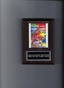 EARNIE SHAVERS vs LARRY HOLMES POSTER PLAQUE BOXING PHOTO PLAQUE