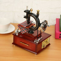 Music Box Vintage Sewing Machine Musical Toy Music Box for Home Decor Durable