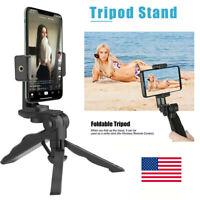 Adjustable Tripod Desktop Stand & Cell Phone Stabilizer Handheld Mount Holder US
