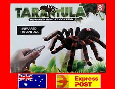 NEW Remote Control Tarantula Real Looking Spider Toy RC Infrared + LED Light 8+
