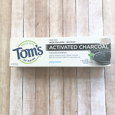 Toms Of Maine Fluoride & SLS Free Activated Charcoal Toothpaste Size 4.7oz