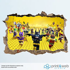 Lego Batman Movie Wall Smash Decal Sticker 3D Bedroom Vinyl Mural Art