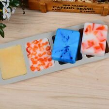 New DIY Silicone Soap Mold For Handmade Soap 3D Mould Square Soaps Molds