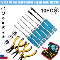 10 in 1 Hex Screwdriver Repair Tools Box Set Kit For RC Car Drone Helicopter Toy