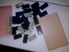 VINTAGE old SOVIET UNION USSR ukrainian Plastic DNEPROPETROVSK Dominoes game set