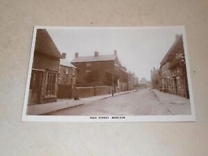 EARLY 1900s REAL PHOTO POSTCARD - HIGH STREET, MOULTON, NORTHAMPTONSHIRE