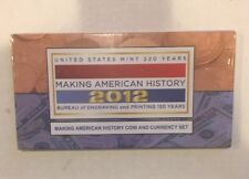 2012 Making American History Coin and Currency Set Sealed in OGP w/ $1 Silver AE