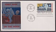 """US 1969 First Day Cover """"First Man on the Moon"""" w/ Very Scarce Foil Stamp"""