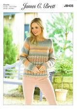 James C Brett JB435 Knitting Pattern Womens Sweater in Marble Chunky