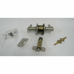 Schlage F51A FLA 619 Flair Lever Keyed Entry Lock in Satin Nickel - New