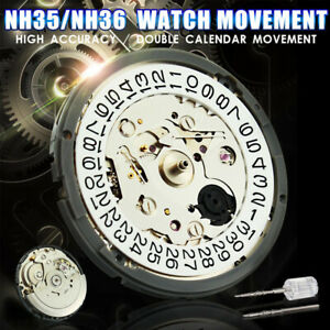 NH35/NH36 High Accuracy Automatic Mechanical Watch Wrist Movement Day Date 29mm