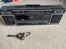 Vintage Sharp WF-340E Cassette Radio Stereo Portable Ghetto Blaster Needs TLC