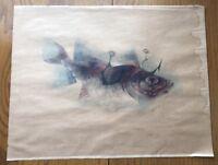 """Siegfried Gerhard Reinhardt Fish Lithograph Art piece 23"""" X 18"""""""