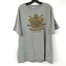 Roots Canada Canadian Olympic Hockey Teams 2002 Grey T Shirt Size XL