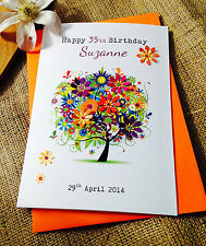 Personalised  Birthday Card Niece Friend Mother-in-Law Auntie 34th 45th 75th