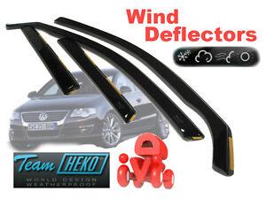 For VW PASSAT B6/B7 2005 - 2015 SALOON / SEDAN  Wind deflectors 4.pc HEKO 31154