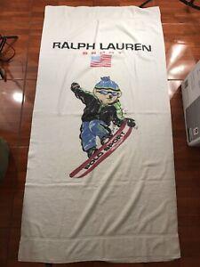 Ralph Lauren Beach Towel Vintage Polo Bear Sport Snow Boarding USA Made