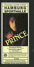 Original 1990 Prince concert ticket stub Nude Tour Hamburg Germany