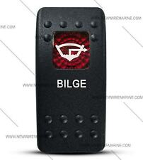 Labeled Contura II Rocker Switch COVER ONLY, Bilge (Red Window)