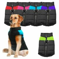 Small/Large Pet Vest Jacket Warm Waterproof Dog Clothes Winter Padded Coat USA