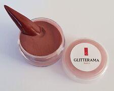 Brown coloured acrylic powder Glitterama 4g pot