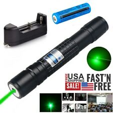 Assassin 532nm 1mw Green Laser Pointer Pen 500Miles Rechargeable Lazer+Batt+Char