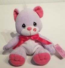 New! 1999 Precious Moments Tender Tails Lavender & Pink Bear #670200