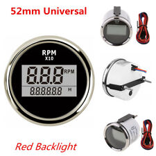 12V Universal Car Motorcycle Tachometer Red LED Digital 0-9990 RPM Meter Gauge
