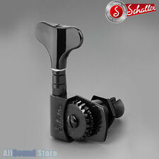 NEW - Schaller M4S LIGHT 2x2 Bass Tuners Tuning Keys - Half Covered Gear - BLACK