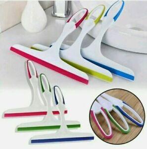 Glass Window Wiper Soap Cleaner Squeegee Shower Bathroom Mini Car Blade Brush