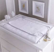 White & Grey Silver Lining Changing Mat - Clair De Lune - New