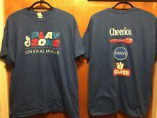 GENERAL MILLS PLAY ZONE ~ XL ~ NEW ~ Cheerios Hamburger Helper 2 Sided T Shirt