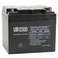 UPG UB12500 12V 50Ah Emergency Exit Lighting Rechargeable SLA Battery