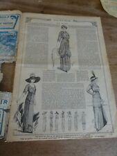 ANCIENNE REVUE MODE PRATIQUE  AVEC PLANCHE PATRONS JUILLET 1912 N°29