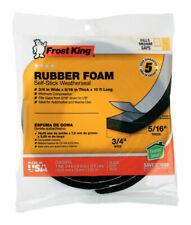 Rubber Foam Tape 9/16-Inch Black 1/2