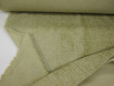 Light Olive Green Plain Heavy Upholstery Chenille Fabric. (Clearance)