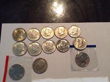 Lot of 13 Silver John F Kennedy Half Dollars 90%&40% silver. Scrap Silver 70s