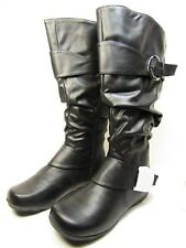 Journee Collection XWC Paris Womens Slouch Riding Boots Black Size 9.5