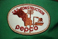 Vintage T&D Construction Pepco Trucker Hat Cap Green Hipster Adjustable