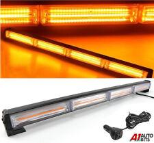 "23.22"" 72W Cob Led Emergency Warning Hazard Flash Strobe Beacon Light Bar Amber"