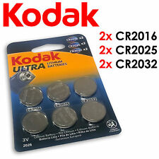 CR2032 CR2025 CR2016 KODAK ULTRA LITHIUM BATTERIES 3V COIN CELL CAR KEY WATCH -