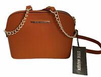 New STEVE MADDEN Women's BMAGGIE CROSSBODY TAN/ORANGE Handbag DT204410