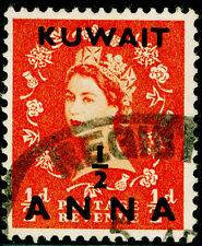 KUWAIT SG93, ½a on ½d orange-red, USED.
