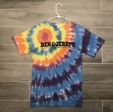 Ben and Jerry's Rainbow Tye-Dye T Shirt Size Large